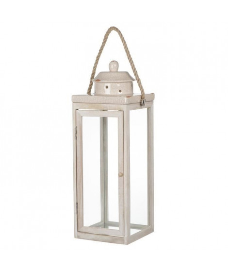 Lanterne céramique craquée GM - 51 cm