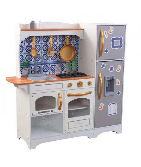 KidKraft - Cuisine en bois Mosaic Magnetic - 53448 - accessoires inclus - portes magnétiques - assemblage EZkraft