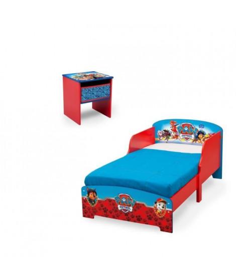 PAT PATROUILLE Chambre enfant Lit en bois et table de chevet
