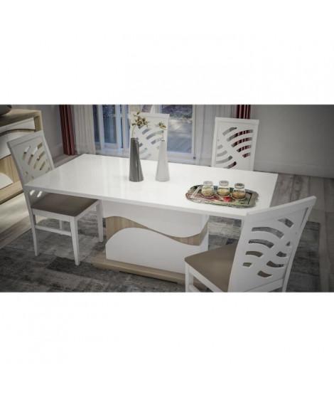 VENETO Table a manger laqué brillant - Style Contemporain L 160 x P 90 x H 76 cm