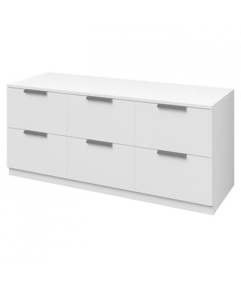 BILLUND Commode style contemporain - Décor blanc - L 120 cm