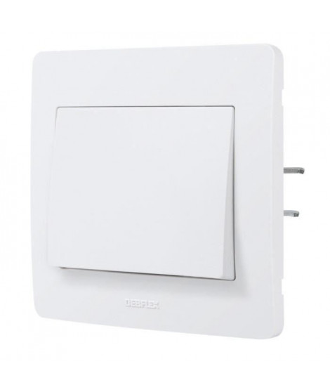 DEBFLEX DIAM2 Interrupteur va et vient blanc (Lot de 3)