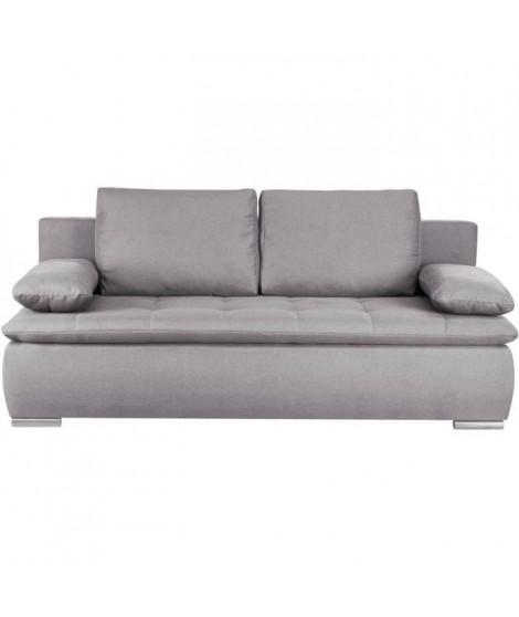 CLAUDIO Banquette convertible - Tissu gris clair