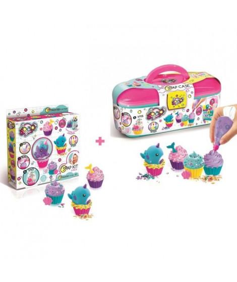 CANAL TOYS - SO SOAP DIY - Soap Vanity - Vanity pour décorer tes savons cupcakes + Soap Kit - 3 savons a customiser