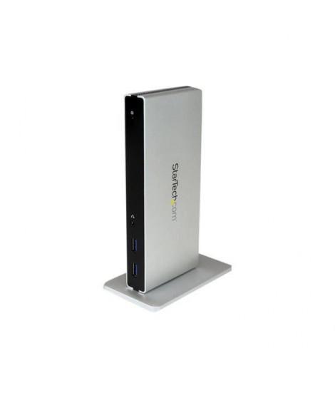 STARTECH.COM Station d'accueil USB 3.0 double affichage DVI - Pour PC portable avec GbE et adaptateurs HDMI / VGA