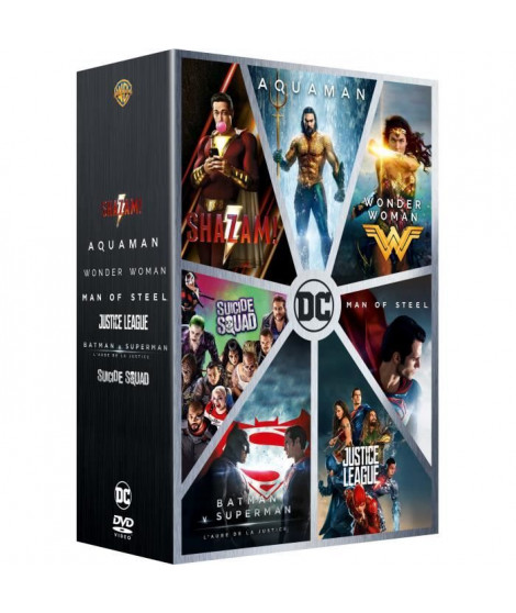 Coffret DVD DCEU Intégrale : Man Of Steel/Batman V Superman / Suicide Squad / Wonder Woman / Justice League / Aquaman / Shazam !