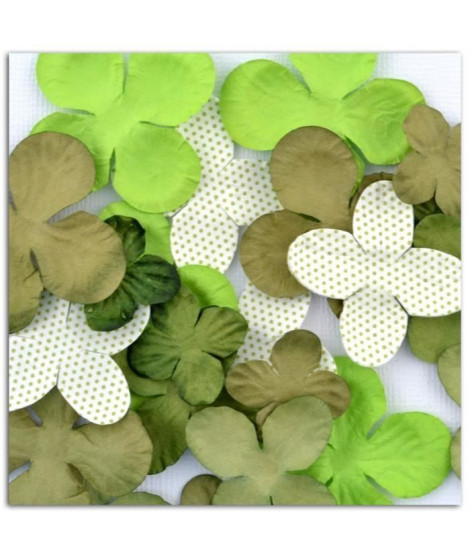 TOGA Pack de 25 Fleurs Vert (Lot de 3)