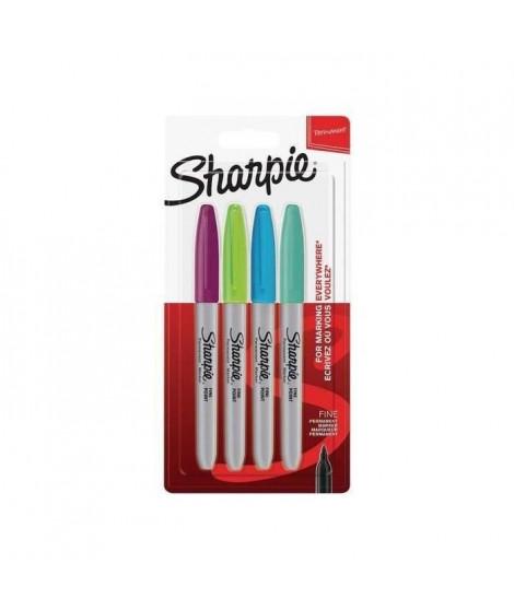 SHARPIE Lot de4 marqueurs permanents - Pointe fine - Couleurs fun assorties (Lot de 3)