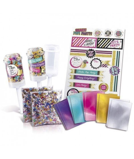 CANAL TOYS - ONLY 4 GIRLS - Confetti Party Kit - Push Pop Party ! (Lot de 2)
