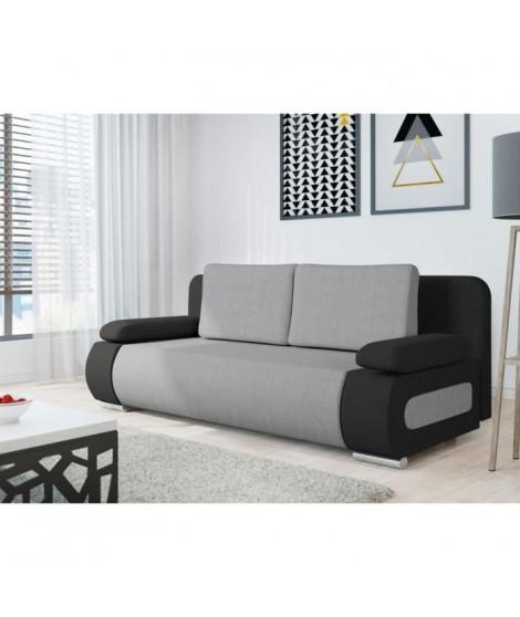 EMMA Banquette convertible - Tissu noir et gris