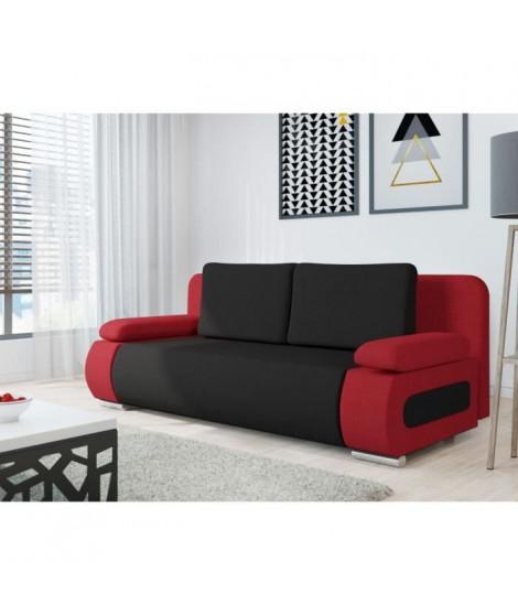 EMMA Banquette convertible - Tissu rouge et  noir