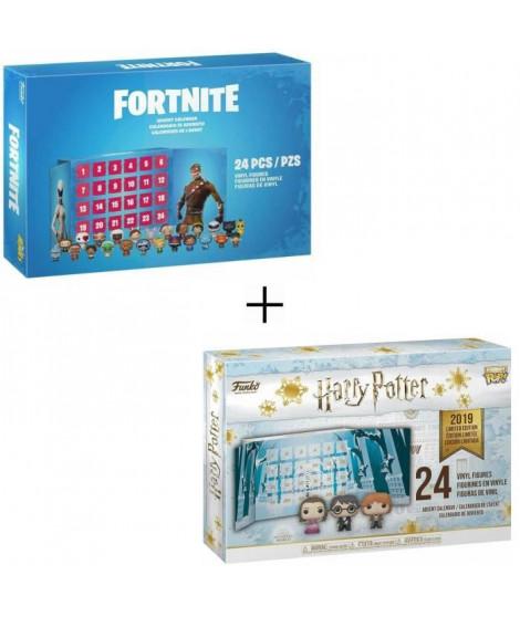 Pack 2 Calendriers de l' Avent Funko Pocket Pop! : Harry Potter + Fortnite