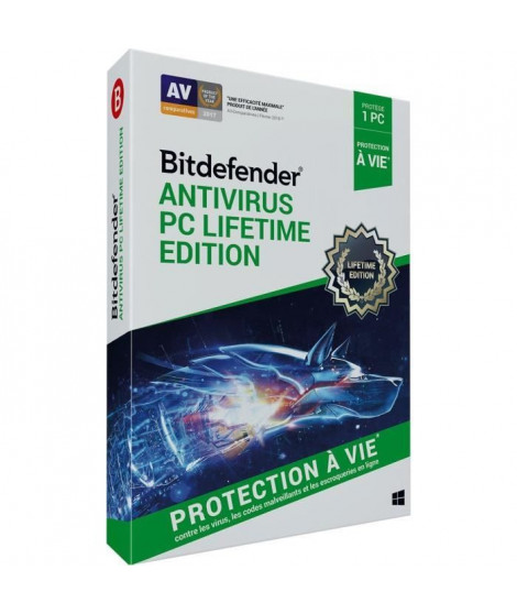 BITDEFENDER Antivirus PC Lifetime Edition - Protection a vie