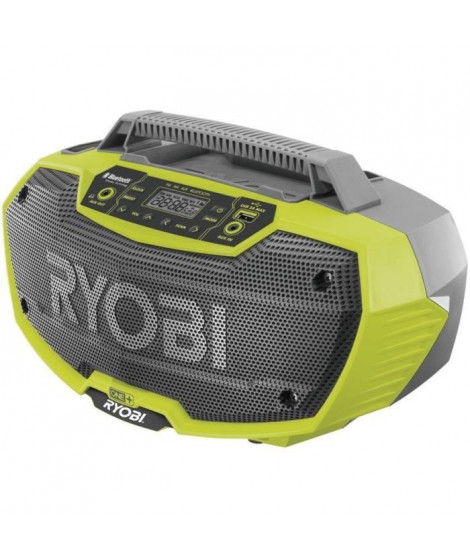 RYOBI Radio de chantier stéréo Bluetooth 18Volts