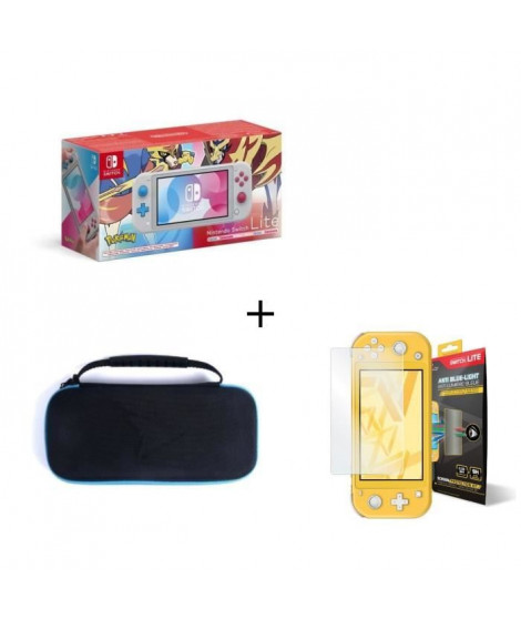 Nintendo Switch Lite ED Lim POKEMON + Housse Switch Lite +  Verre Anti-Lumiere bleue Switch Lite