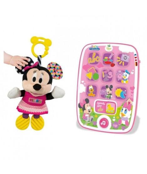 CLEMENTONI Pack Baby Minnie - Ma premiere tablette + Peluche premieres activités
