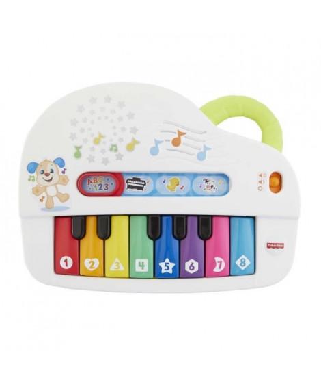 FISHER-PRICE - Mon Piano Rigolo - Piano électronique bébé - 60 musiques & phrases - 6 mois et +
