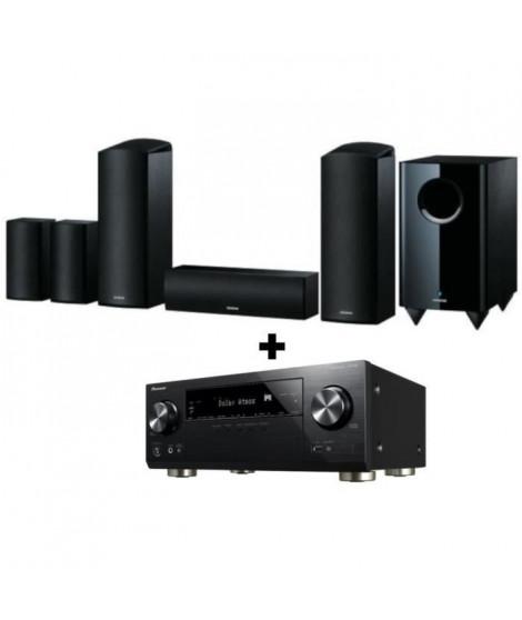 PIONEER VSX-933 + SKS-HT588 - Systeme d'enceintes Home Cinéma 5.1.2 - 650 W + PIONEER VSX-933 Amplificateur AV 7.2