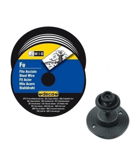 DECA Bobine fil acier pour soudure MIG/MAG 0,8mm 5kg avec adaptateur