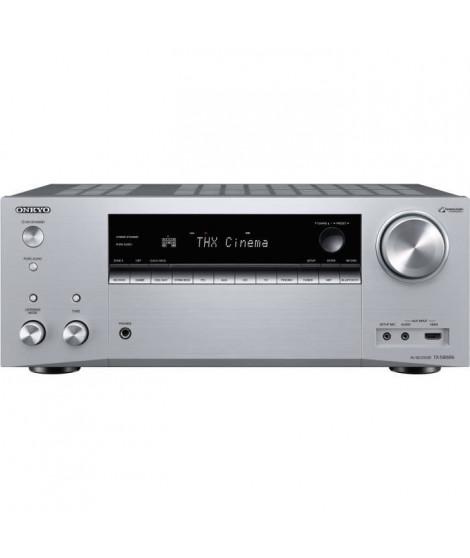 ONKYO TX-NR696-Silver - Ampli-tuner Home Cinéma 7.2 - 165 Watts - THX - Dolby Atmos/DTS:X - HDMI 4K/60p - Bluetooth 4.2 - Wi-Fi