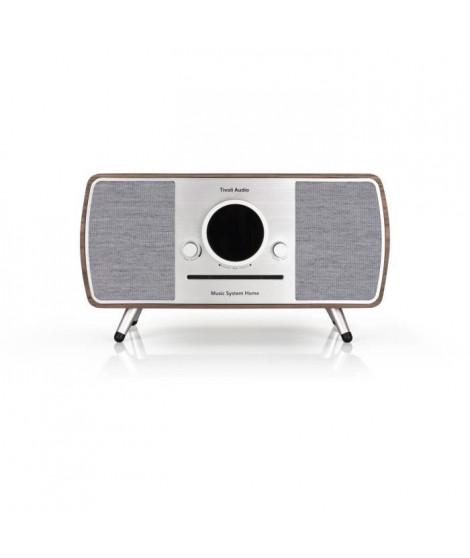 Tivoli Music System Home - Systeme HiFi - CD, Bluetooth, WiFi, AM, FM, DAB/DAB+ ART line - Noyer et gris
