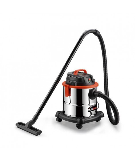 MANUPRO Aspirateur eau et poussieres 20 L 1300 W - Fonction soufflerie - 16 kPa