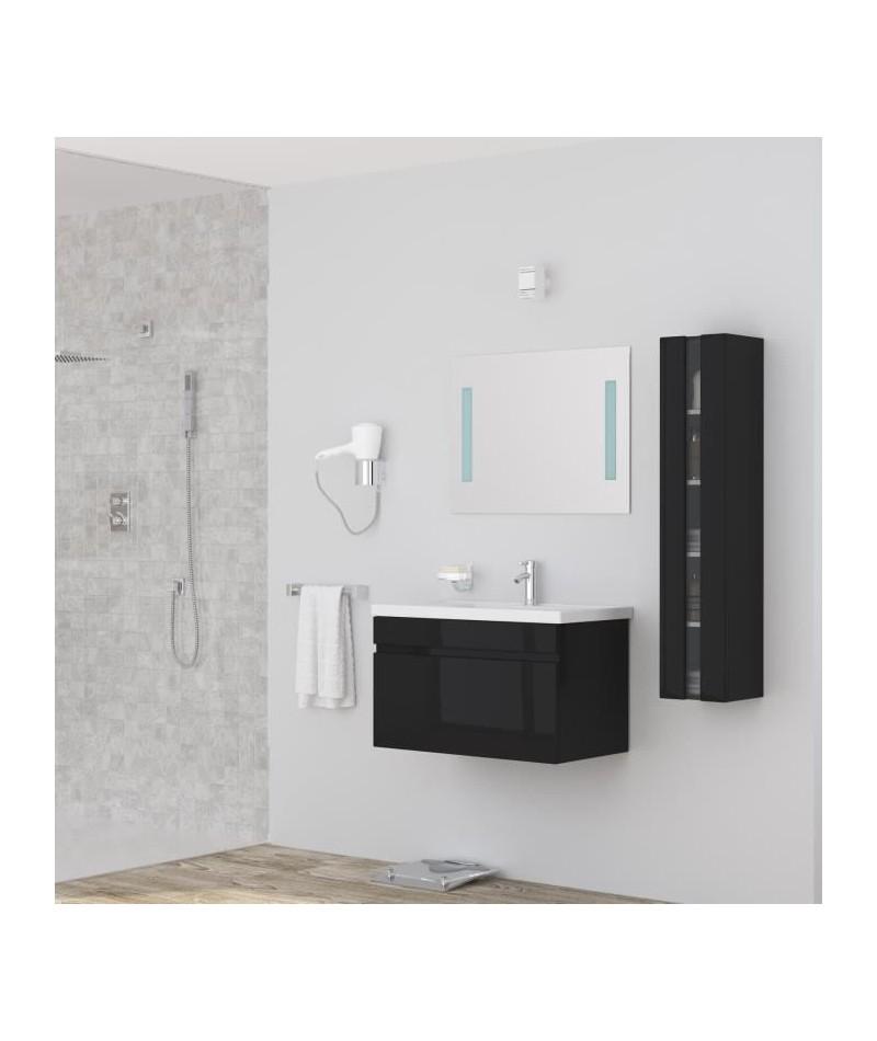 ALBAN Salle de bain complete simple vasque 80 cm - Laqué ...