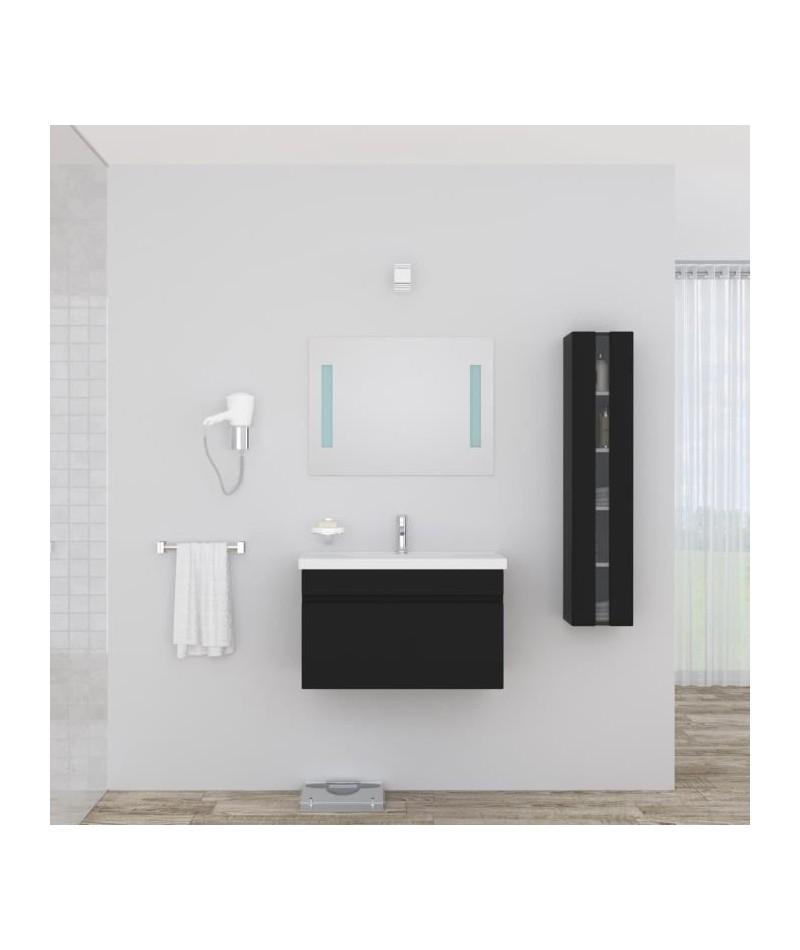 Alban salle de bain complete simple vasque 80 cm laqu for Vasque salle de bain 80 cm