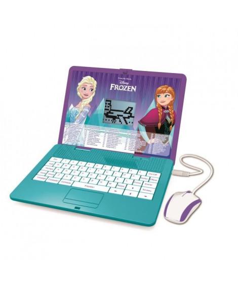 LEXIBOOK - La Reine des Neiges - Ordinateur portable éducatif bilingue (EN/FR) pour enfant avec 120 activités