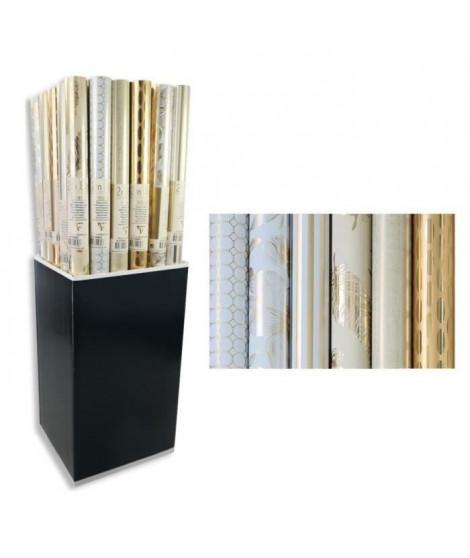 CLAIREFONTAINE Rouleau papier cadeau Premium Trésor - 2 x 0,7 m - 80 g / m² - 6 motifs assortis sous film (Lot de 3)