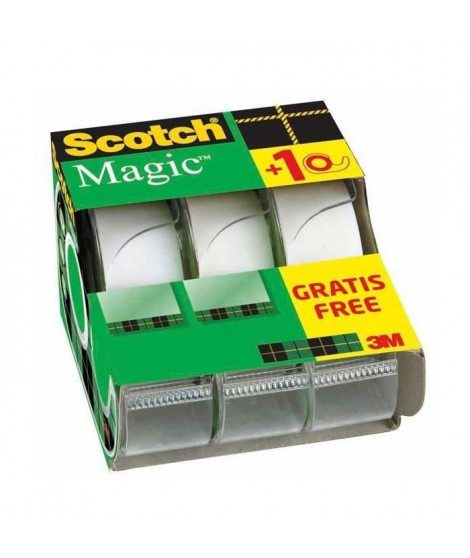 SCOTCH - Lot de 3 dévidoirs avec ruban Caddy Magic - 2 + 1 gratuit - 19 mm x 7,5 m (Lot de 3)