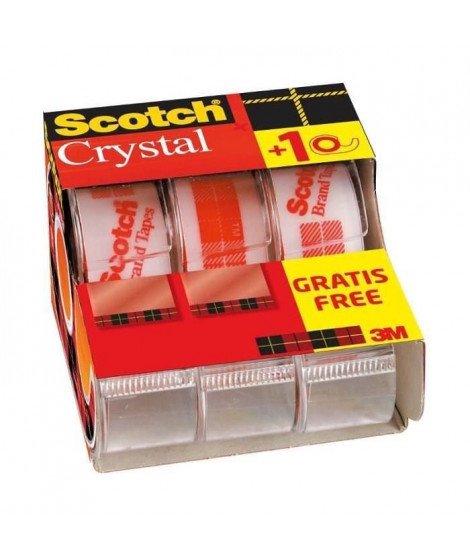 SCOTCH - Lot de 3 dévidoirs avec ruban Caddy Crystal - 2 + 1 gratuit (Lot de 3)