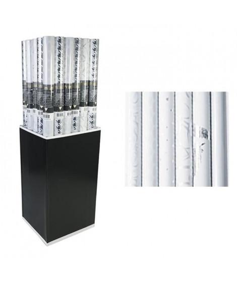 CLAIREFONTAINE Rouleau papier cadeau Premium - 2 x 0,7 m - 80 g / m² - 6 motifs assortis sous film - Blanc (Lot de 3)