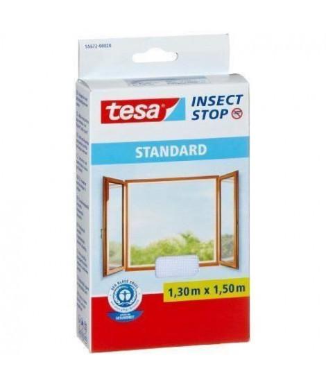 TESA Moustiquaire Standard pour fenetre - 1,3 m x 1,5 mm - Blanc (Lot de 3)