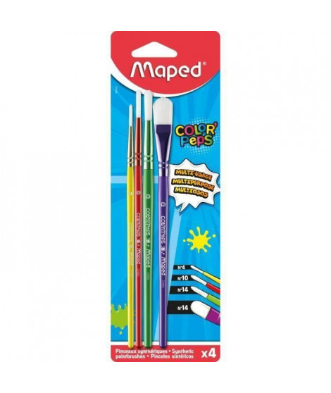 MAPED 4 Pinceaux Blister (Lot de 3)