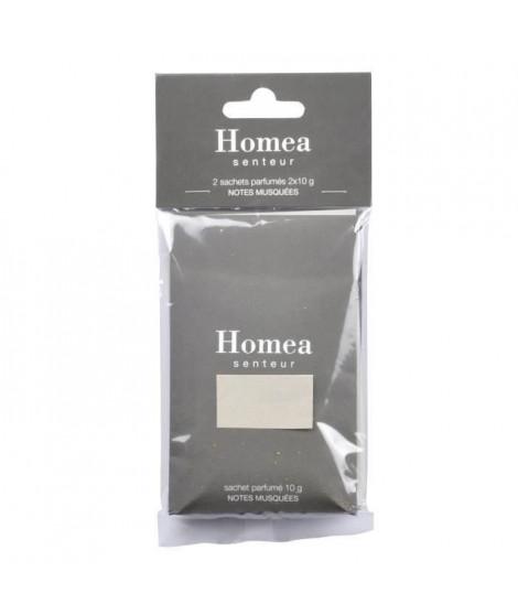 Lot de 2 sachets fraîcheur parfumé - 10 g - Parfum : notes musquées (Lot de 3)