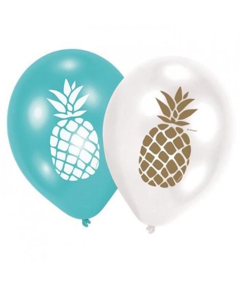 """AMSCAN Lot de 6 Ballons Ananas 27,5 cm 11"""" (Lot de 2)"""