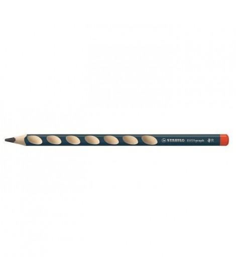 STABILO Blister de 2 Crayons Graphites Easygraph Droitier - Tete trempée - HB (Lot de 3)