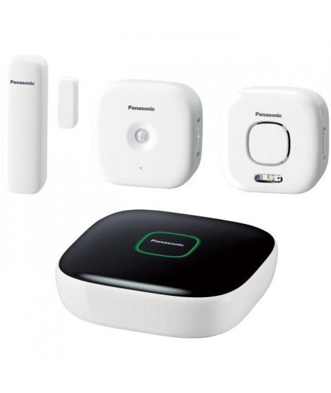 PANASONIC Pack Sécurité Plus KX-HN6011FRW - Comprenant Hub, Détecteur d'ouverture porte et fenetre, Détecteur de mouvement et…
