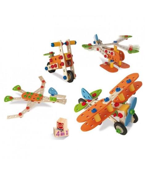 EICHHORN  Avion 4 En 1 Construction 85 pieces
