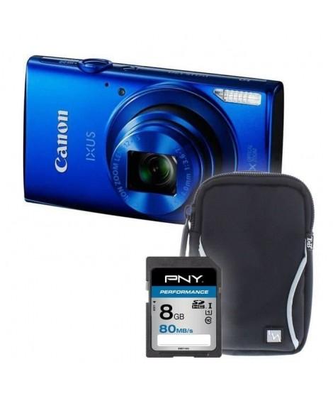IXUS 170 Bleu + sacoche + carte 8Go - Appareil photo compact