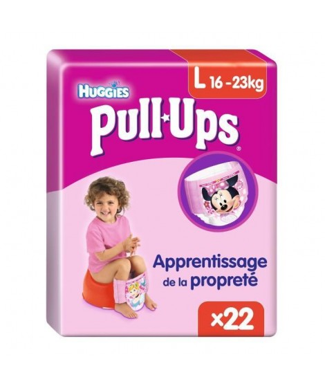 HUGGIES Pull Ups Economy Fille Taille 6 L 16-23Kg couches