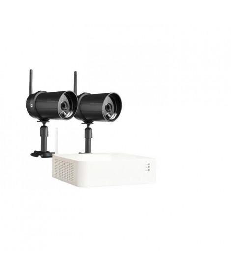 CHACON Kit enregistreur vidéosurveillance sans fil IP + 2 Caméras (1TB inclus)