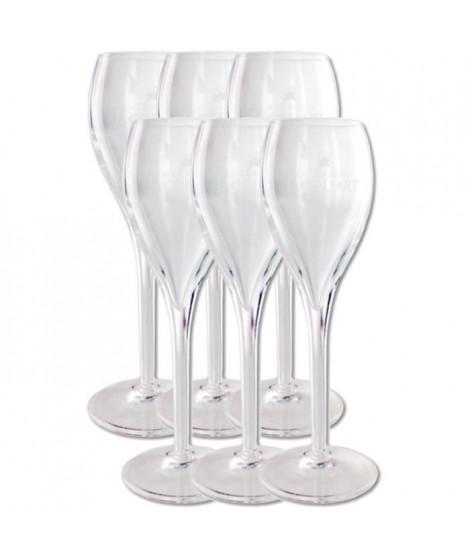 Boite de 6 Flutes a Champagne Jacquart