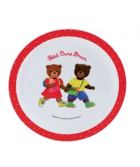 Fun House Petit Ours Brun assiette micro-ondable pour enfant