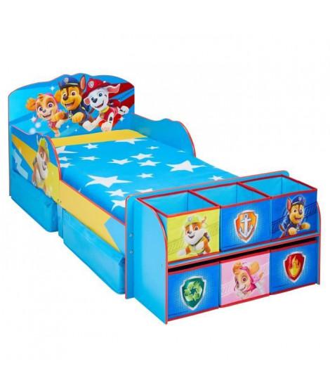 Pat' Patrouille - Lit pour enfants avec cubes de rangement a jouets