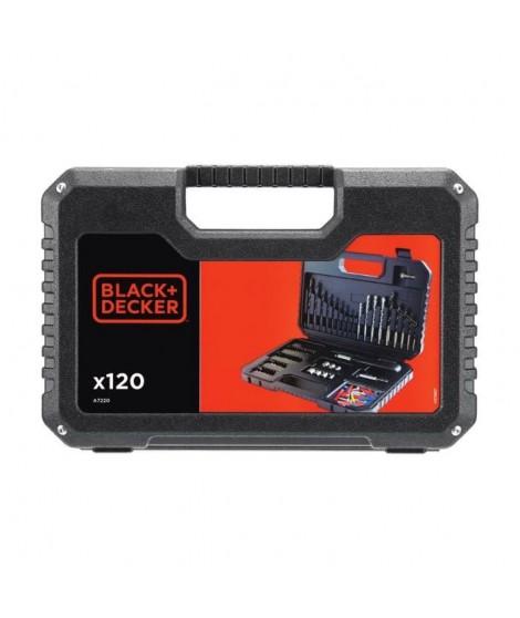 BLACK & DECKER Coffret perçage vissage avec 120 accessoires