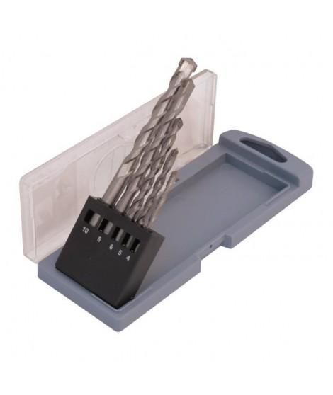 SMARTOOL Coffret de 5 forets béton ø 4-10 mm pour usage courant