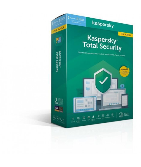 KASPERSKY Total Security 2020 Mise a jour, 5 postes, 1 an