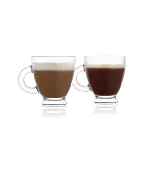 REEPTION Lot de 6 tasses a café en verre Roma - 15,5 cl